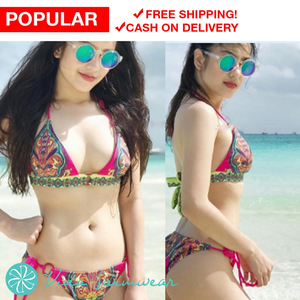 7bdc597806 Retro Style Simple Model Sexy Printing Swimsuit Bikinis