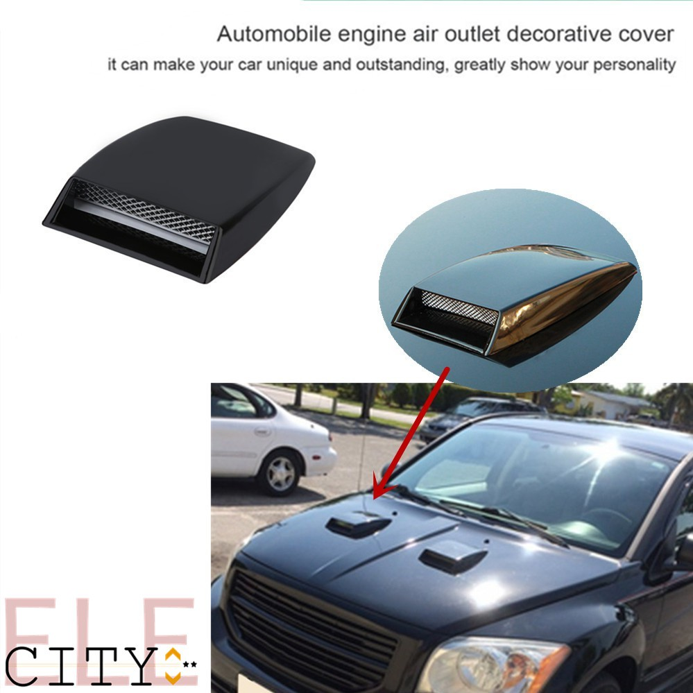 eb26843aef2 ♚Universal Car Bonnet Hood Scoop Air Flow Intake Vent Cover ...
