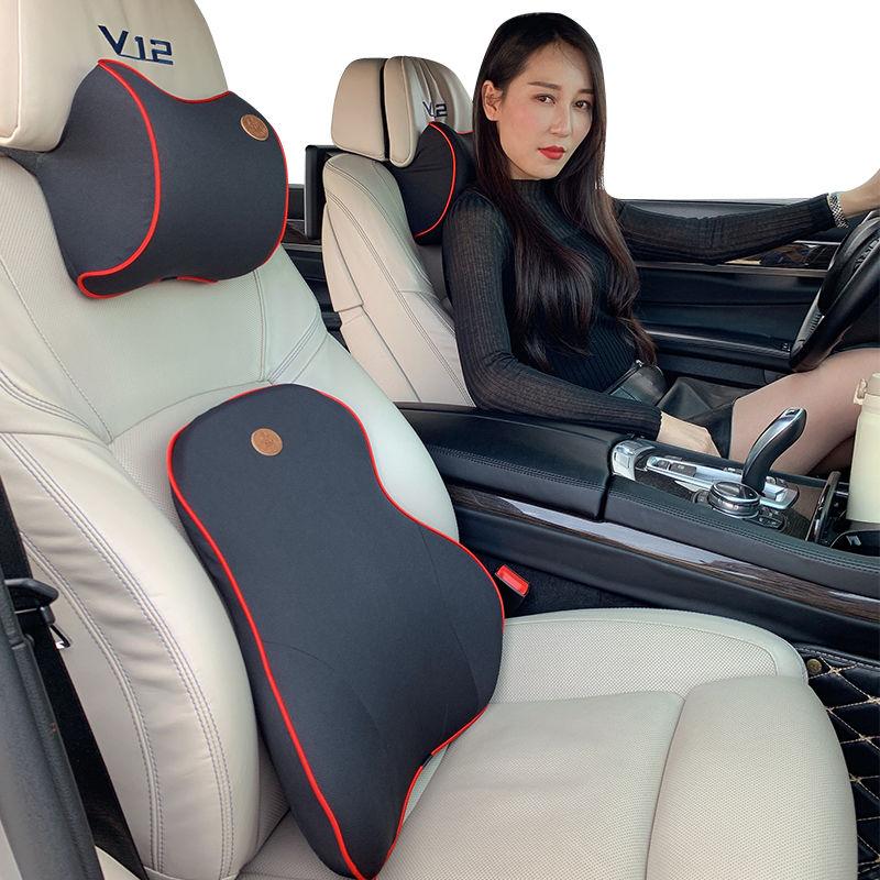 Adjustable Car Neck Pillows,Car Headrest Cushion,Car Seat Headrest Neck Rest Cushion 3D Memory Foam Soft Breathable Seat Headrest Pad Neck Rest Car Seat Pillow Accessories Neck Guard Artifact