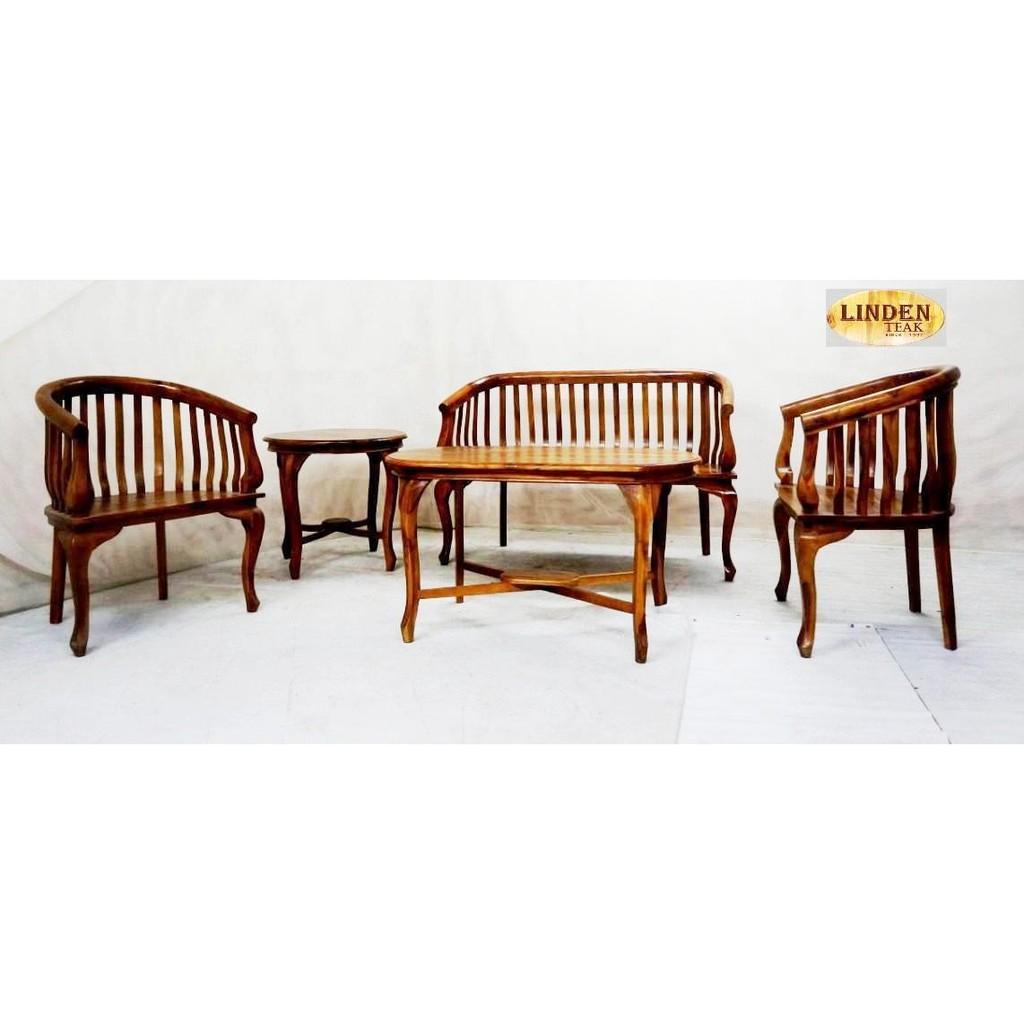 Solid Teak Wood Lenong Sofa Furniture