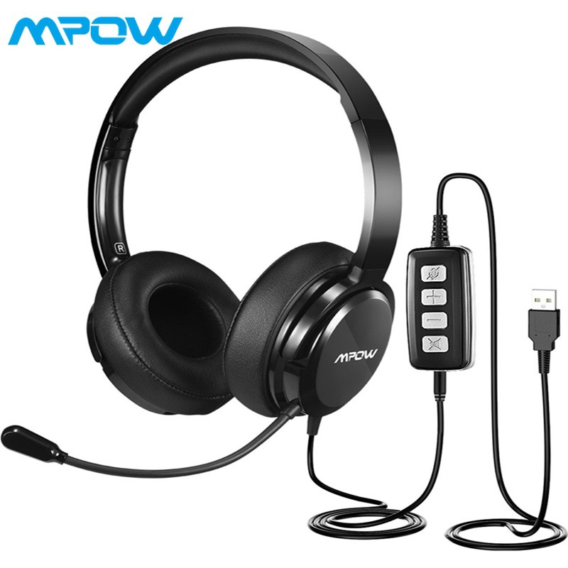 5fb58d643a8 Mpow 071 USB 3.5mm PC Headset w/ Mic Noise Cancelling | Shopee Philippines