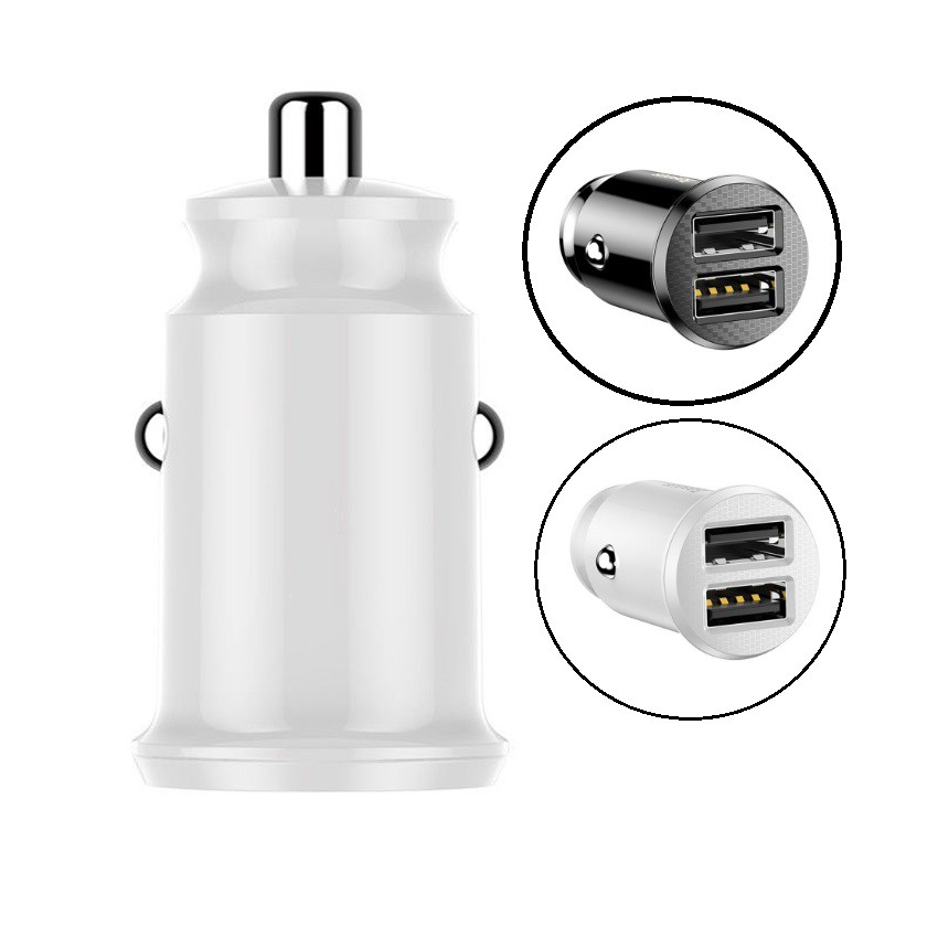 1x Grain Mini Dual USB Smart 3.1A Car Charger Fit For Mobile Phone Tablet GPS