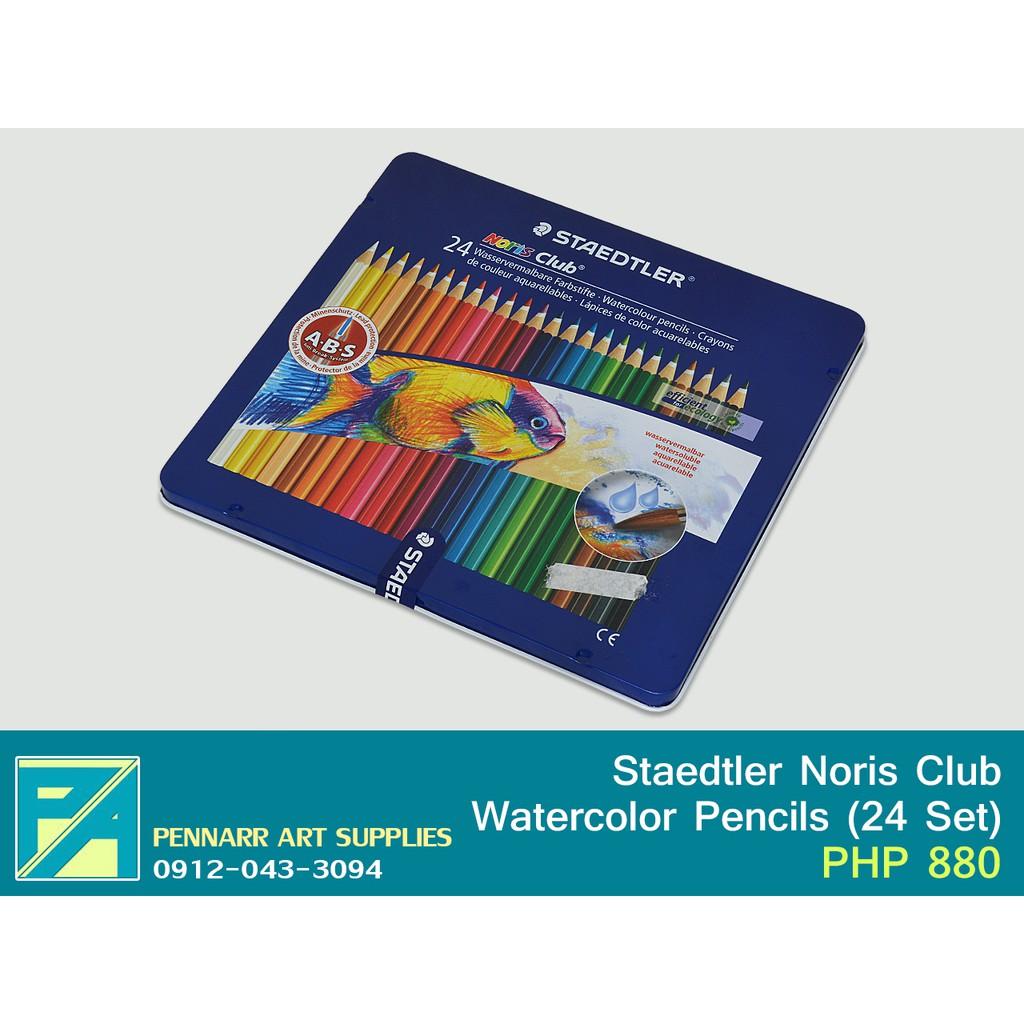 Staedtler Watercolor Pencils 24 Karat Luna Aquarell Watercolour 137 C36 Noris Club Tin Set Of Shopee