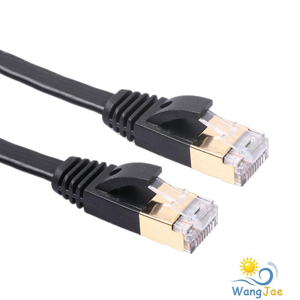 Black Color : Black Network Accessories LAN Cable Tools 1m CAT7 10 Gigabit Ethernet Ultra Flat Patch Cable for Modem Router LAN Network Built with Shielded RJ45 Connectors
