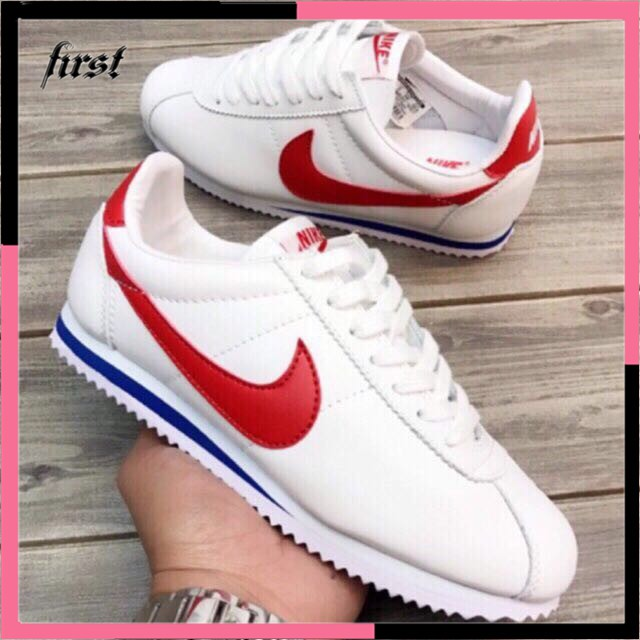 the best attitude a9abc 6f01f Nike Cortez basic leather shoes unisex sneaker running shoes