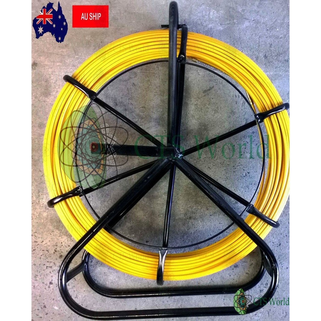 Wiring Harness 4.5mm 100m Fiberglass Wire Cable Running Rod Snake Fish Rodder Puller Flexi Lead Electric Fiberglass Wire Cable Running Rod Attractive And Durable
