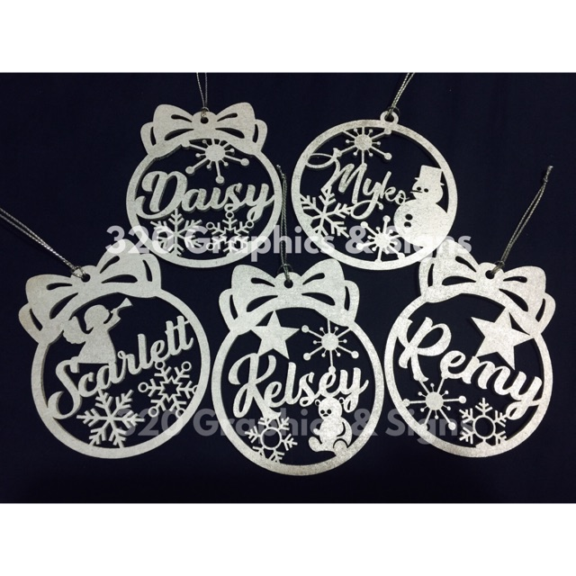 Personalized Christmas Tree Ornaments Laser Cut Shopee Philippines