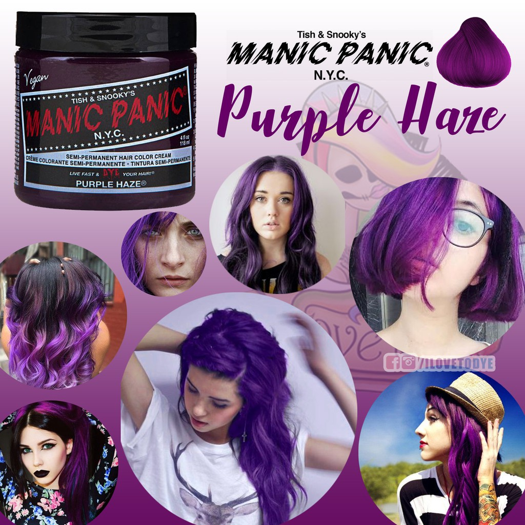 Purple Haze • Manic Panic Hair Dye