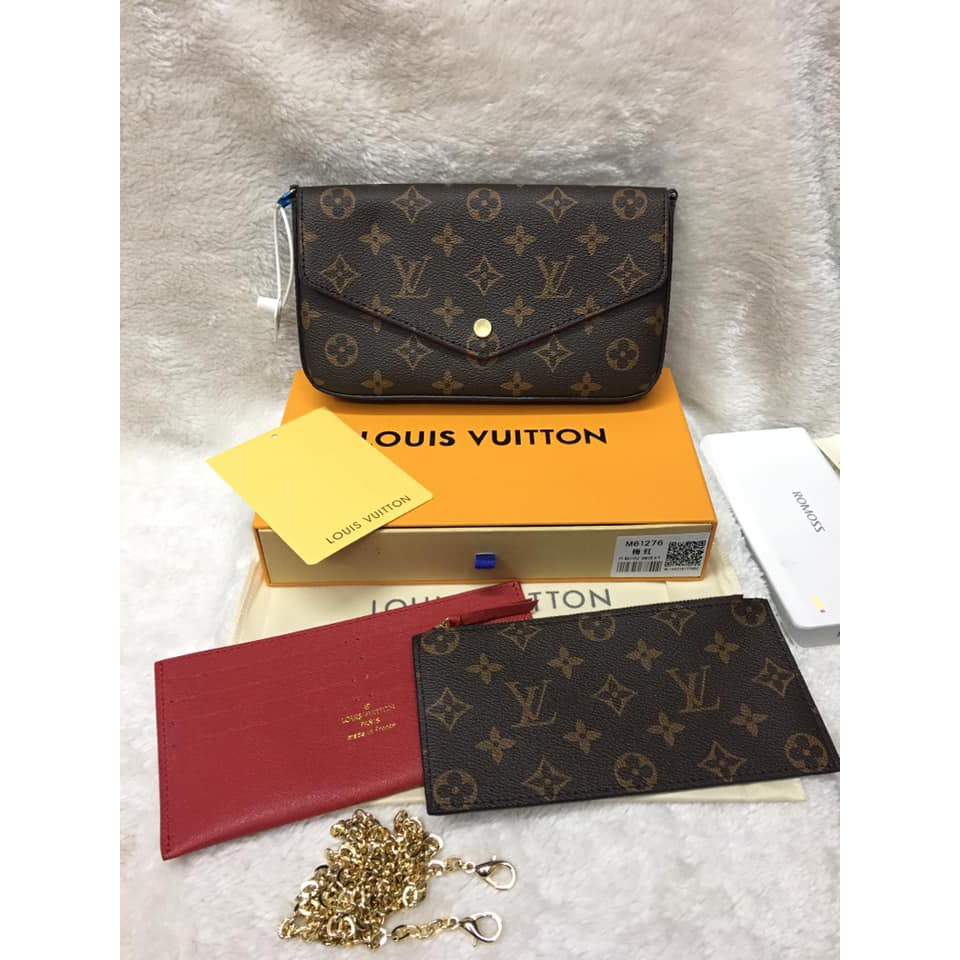 NOT MALL # LV sling bag 3IN1 set Louis Vuitton W/Box Monogram COD