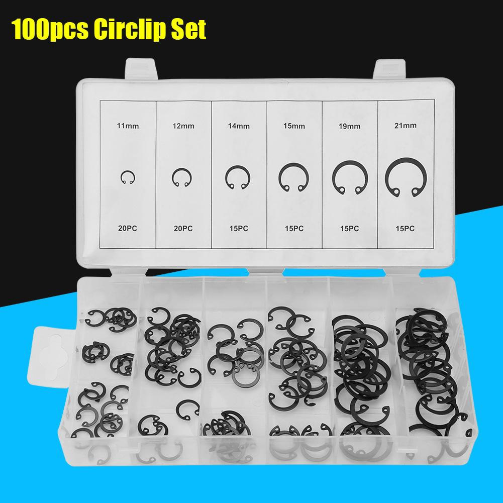 Screw 100Pcs Retaining Ring//Snap Ring//Circlip Select Size from 8mm
