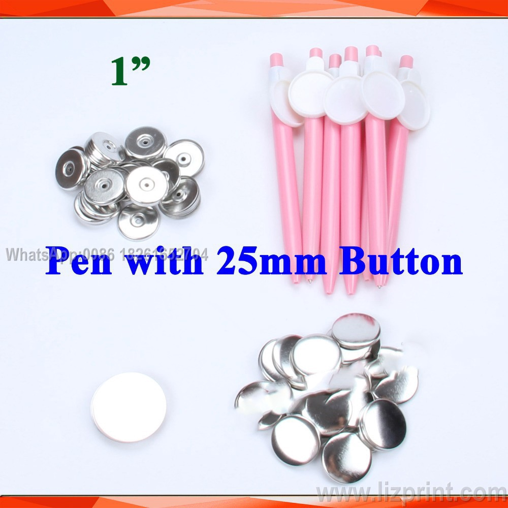 500Sets Pin Badge Button Parts 44//58mm Supplies for Maker Machine Plastic Metal