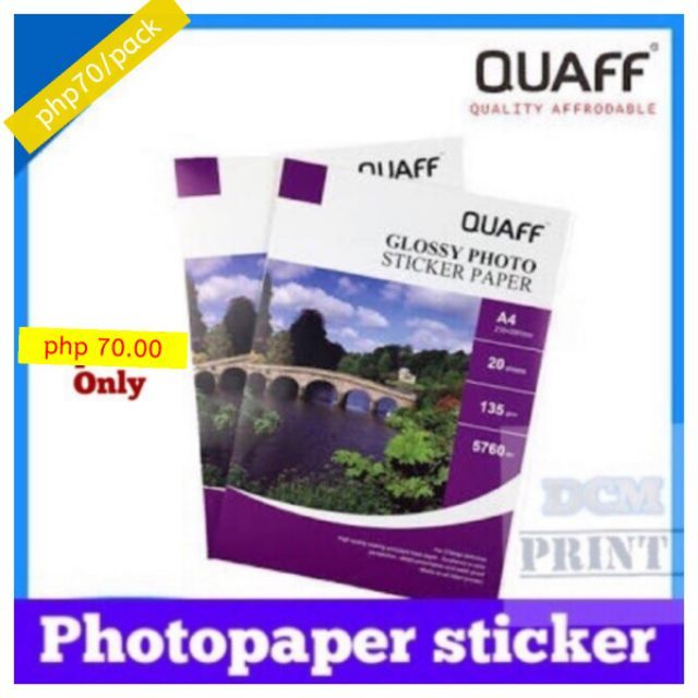image relating to Sticker Printable Paper identified as QUAFF Image Sticker, picture paper sticker