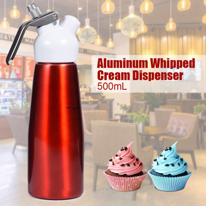 Black Whipped Cream Charger Whipper Dispenser with 3 Nozzles 2 Caps 1 Brush