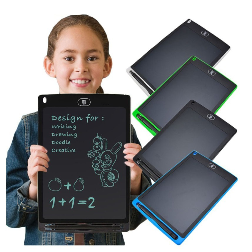 LCD Writing Tablet 3 Pcs Childrens LCD Sketchpad Tablet Portable Light Energy Electronic Blackboard Baby Kids Doodle Drawing Board LCD Drawing Board Color : Blue, Size : 8.5 inches