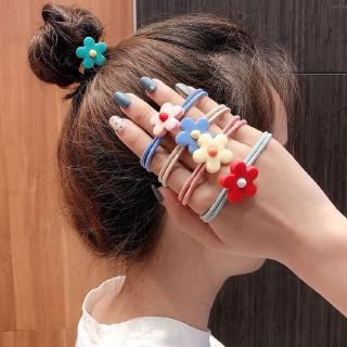 5pcs Korean Cute Flower Elastic Hair Bands Hairties Hair