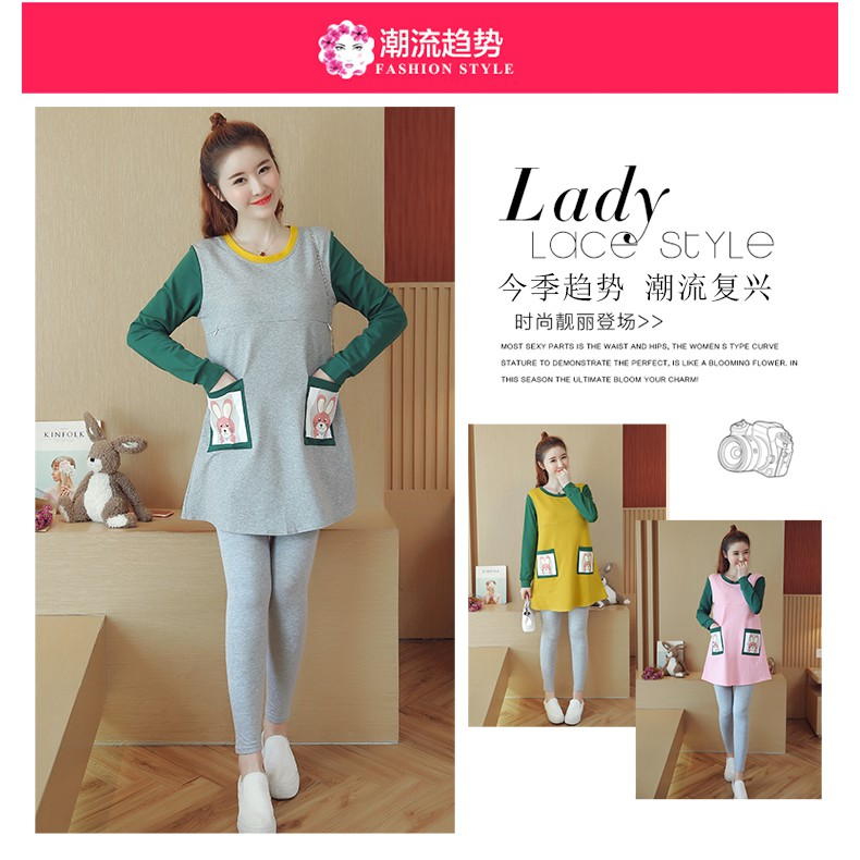 Spring dress new fashion go out to feed lactation dress