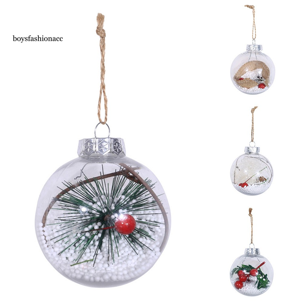 Christmas Clear Holly Berry Xmas Tree Hanging Ball Pendant Bauble Home Decor HOT