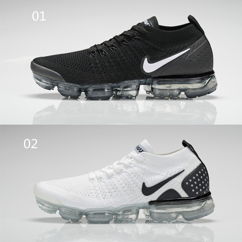 linhas stock Nike Air Max VAPORMAX FLYKNIT 2.0 Running Shoes Black and White