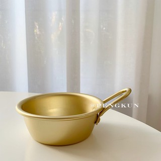 Retro metal small bowl with handle rice bowl small ...