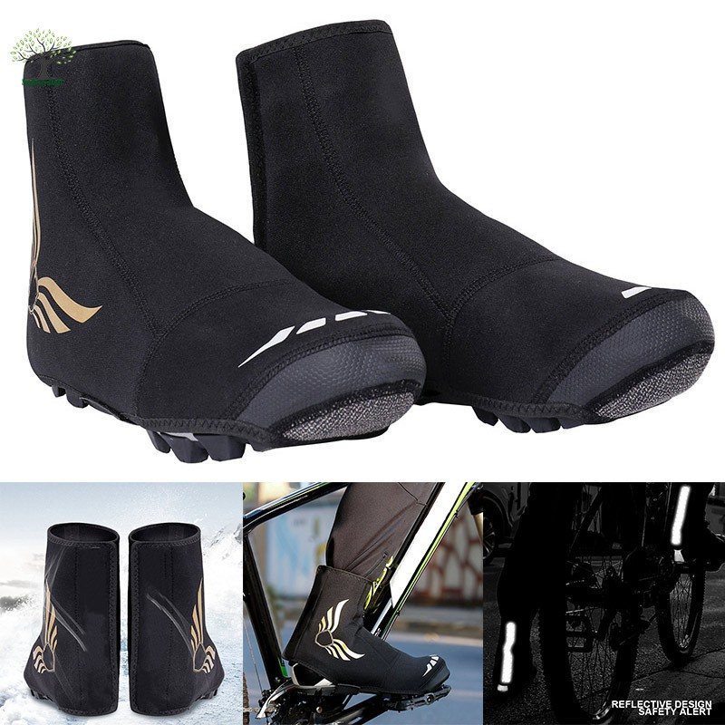 RockBros Cycling Bike Reflective Shoes Covers Winter Warm Overshoes Waterproof