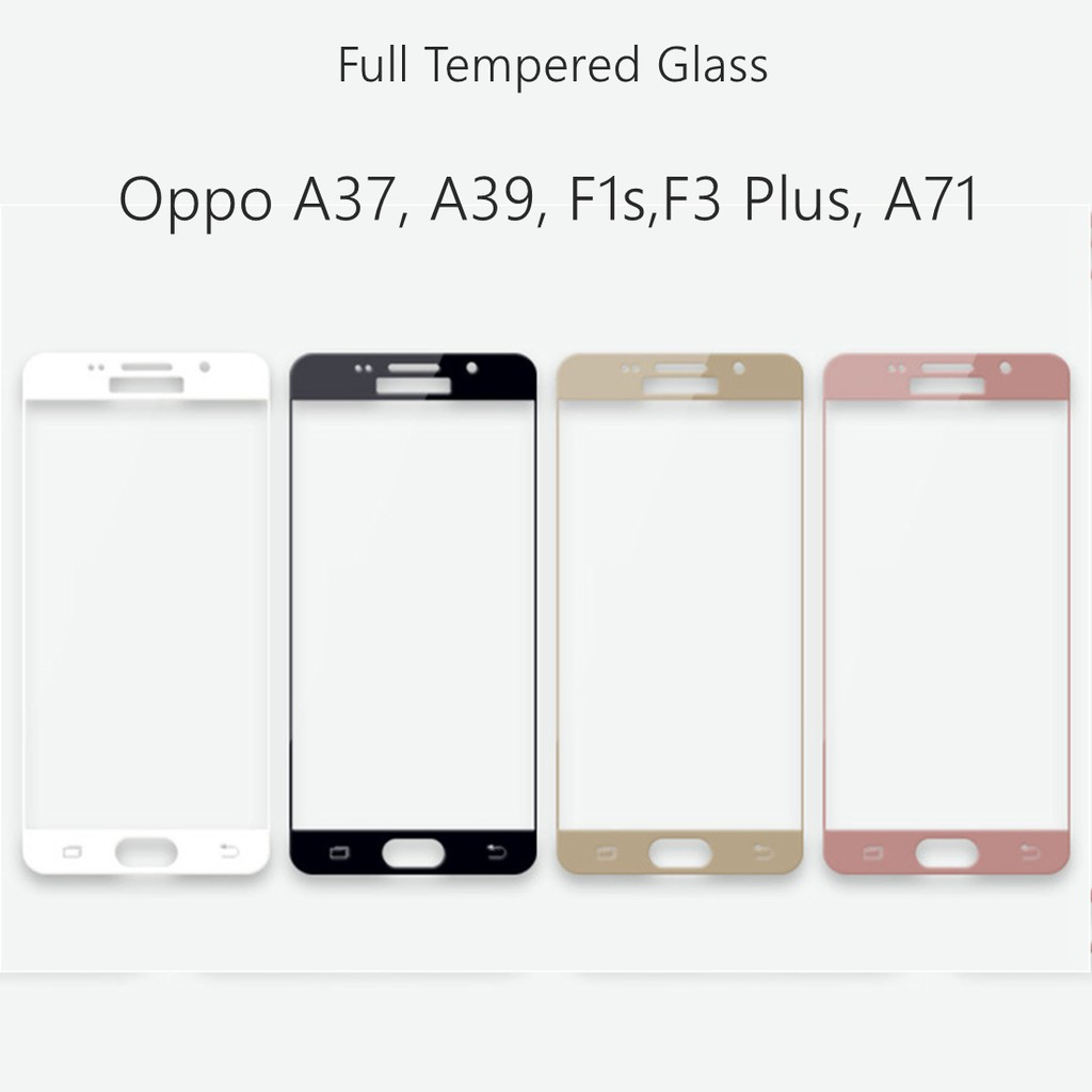 Full Tempered Glass For Oppo Shopee Philippines A37 Screen Protector Cover