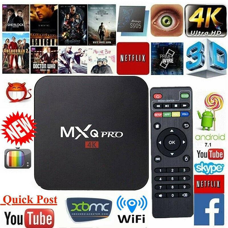 MXQ Pro Streaming Smart TV Box 2GB+16GB S905W Android 7.1 Bluetooth 2G//5G WI-FI