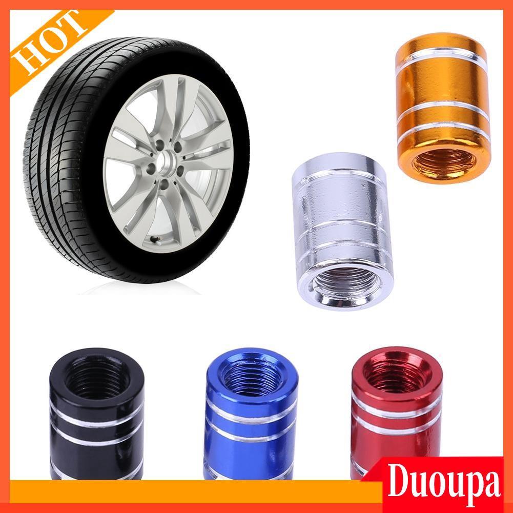 4Pcs Car Motor Bicycle Tyre Valve Caps Aluminum Alloy Cap for Car Wheel Rims Silver