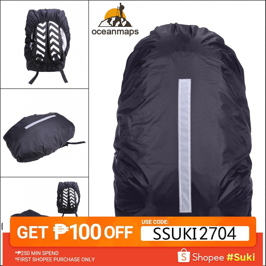 Reflective Backpack Cover Sport Bag Cover Rain Cover Dustproof Waterproof Co od