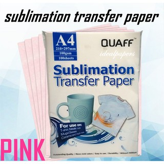 100 Sheets Quaff Sublimation Paper A4 Size for Heat Transfer