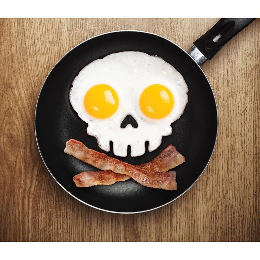 Kitchen Cooking Tool Silicone Rubber Egg Mold Non-stick Skull Egg Fried Egg Ring