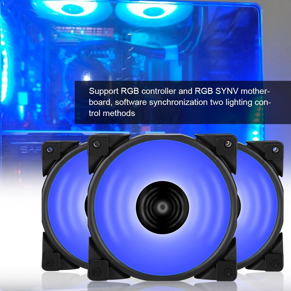 3PCS Pccooler 12cm HAlO RGB PC Case Cooling Fan