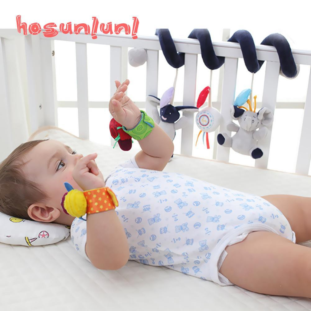 Newborn Baby Boy Girl Infant Soft Toy Wrist Band Rattles Finders Wristband USA