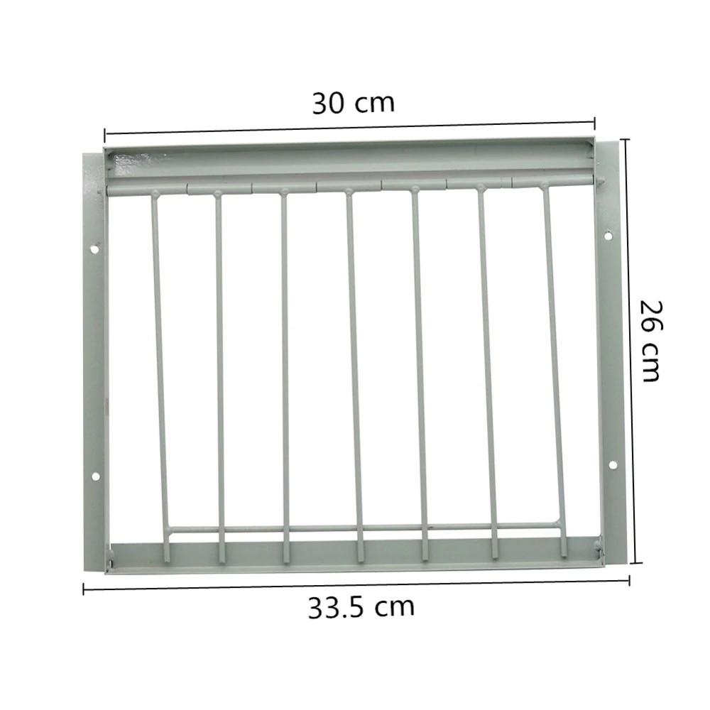 5X Bird Racing Pigeon Cage Door Stainless Steel Entrance Wire Trap Door Curtain