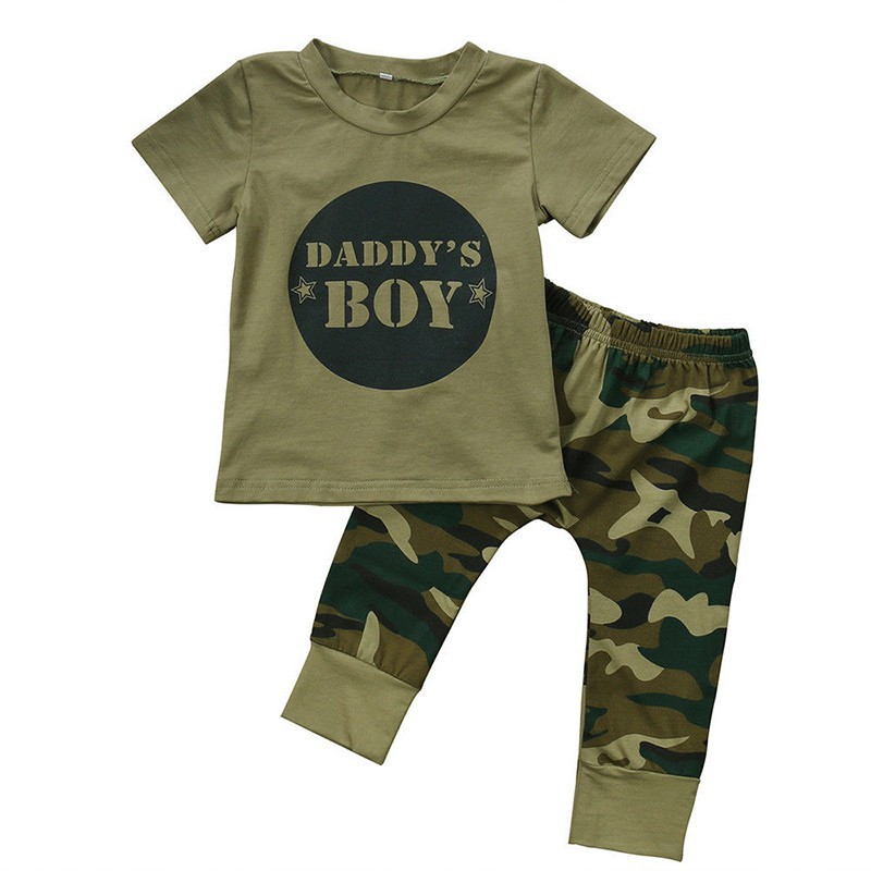 87508a893855b ProductImage. ProductImage. Casual Newborn Infant Baby Boy Girl Camo T-shirt  Tops Pants Outfits Set Clothes