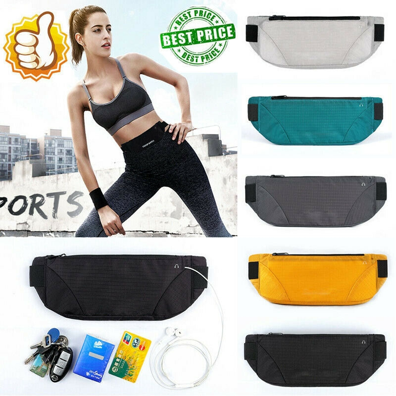 """5.5/"""" Sport Running Jogging  Waist Belt Bum Bag Gym Fanny Pouch Key Money Travel"""