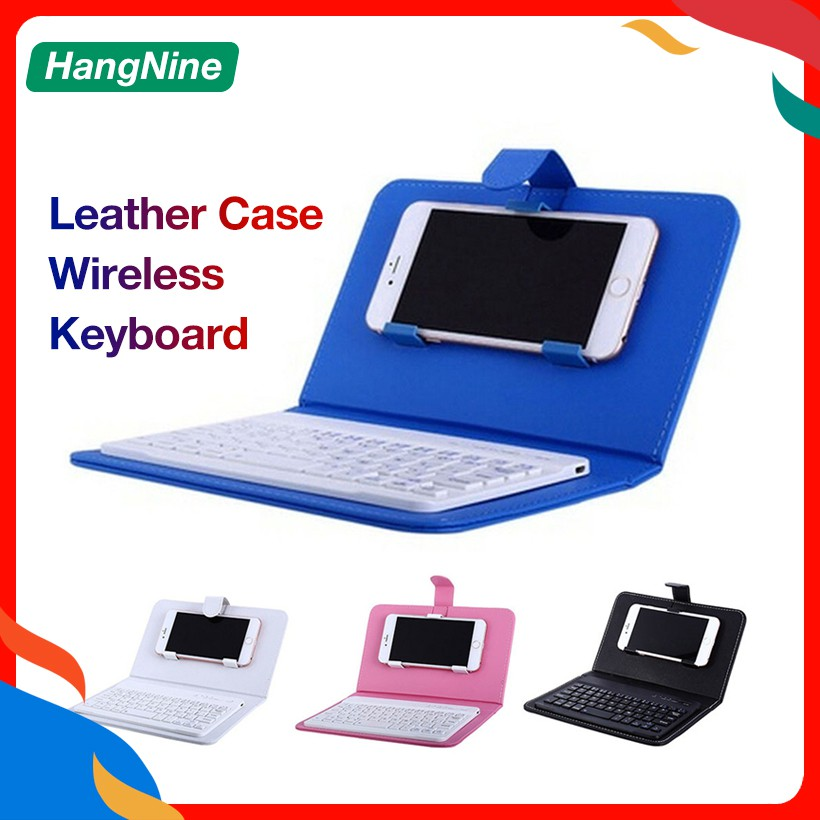 Wireless Keyboard Leather Case Holder For Iphone Android Bluetooth Keyboard Phone Holder Shopee Philippines