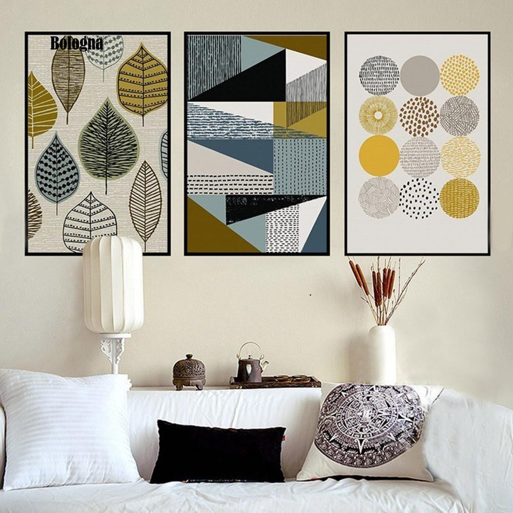 Leaves Geometry Home Modern Canvas Wall