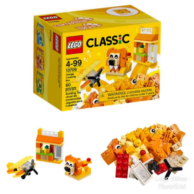 Classic 10709 Lego Creativity Set Orange 1JTFK3cl
