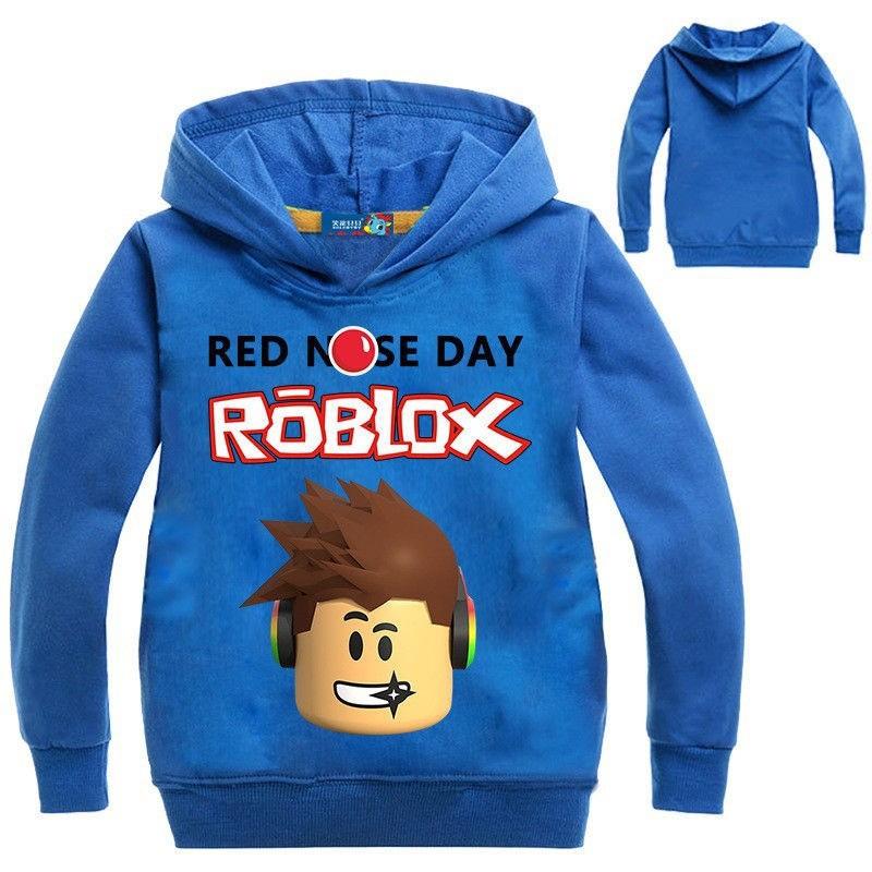 5bcf10dd63 Roblox Girls Boys Red Noze Day Costume Children Hoodies   Shopee Philippines