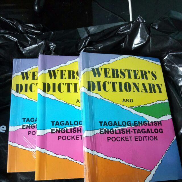 WEBSTER's DICTIONARY Tagalog-English/Eng-Tagalog Pocket Ed