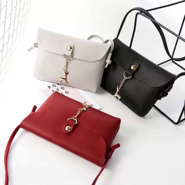 sling bag handbag Inclined shoulder Ladies Bags 2in1 Use   Shopee  Philippines c5569f7e6d