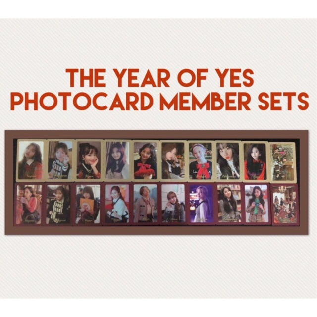 TWICE The Year of Yes Photocard Member Set