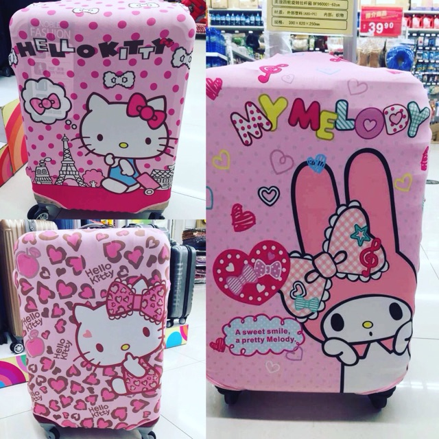 Hello kitty luggage cover