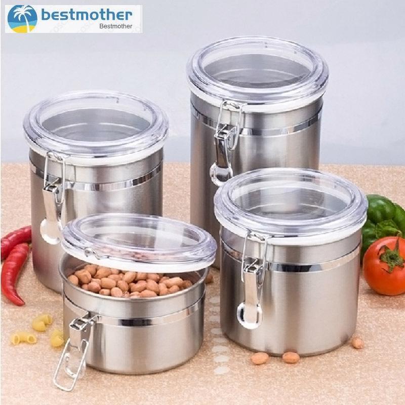 Bestmother Stainless Steel Tea Coffee Sugar Kitchen Storage