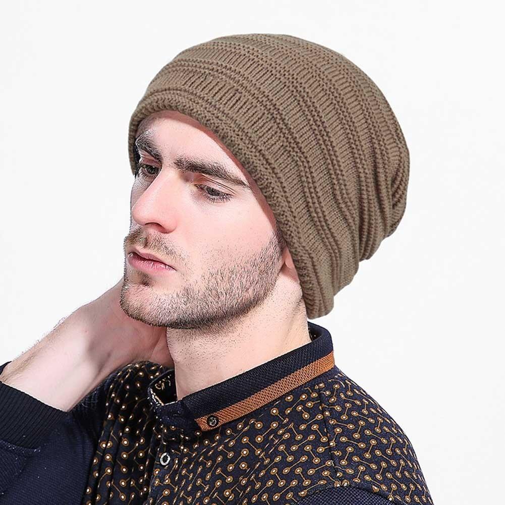 Men s windproof plus velvet bike tide knit wool cap  a8b3721d4ffb