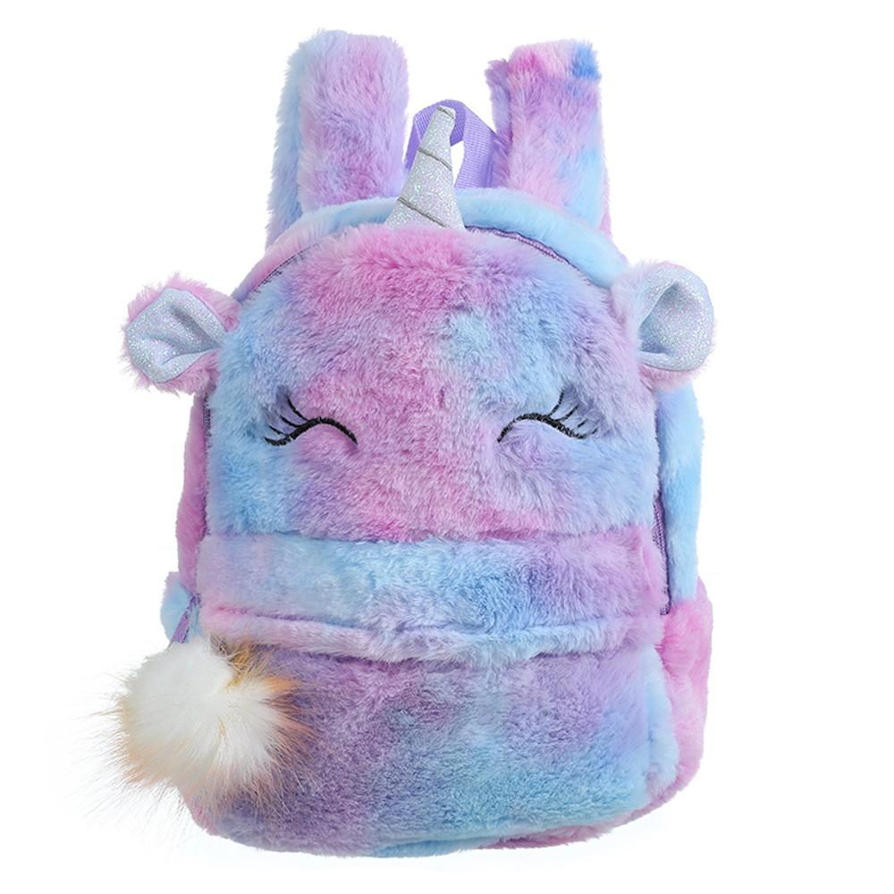 Cute Travel Bags School Bag Rainbow Plush Girls Backbag Unicorn Backpack Hot
