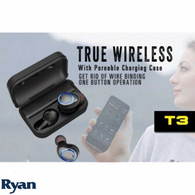 f648fd3a12b Awei T3 True Wireless Earbuds With Charging Case | Shopee Philippines