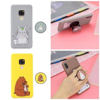Cartoon Soft Silicone Folding Stand Cover Huawei Mate 20 Pro
