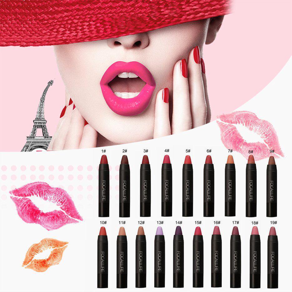 7dbe315424 ✓Bright Colors Women Beauty Matte Lipstick Lips Makeup Cosmetics ...