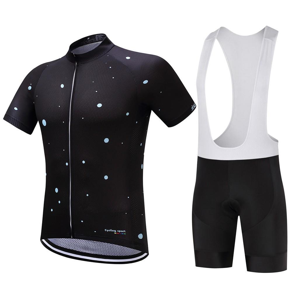a806eb22b Sky Cycling Jersey Short and Bib Set Wears Short Sleev Summe ...